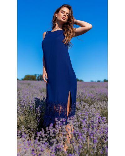 Синее прямое платье Helena