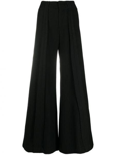 Тонкие черные свободные брюки свободного кроя с высокой посадкой Andrea Ya'aqov