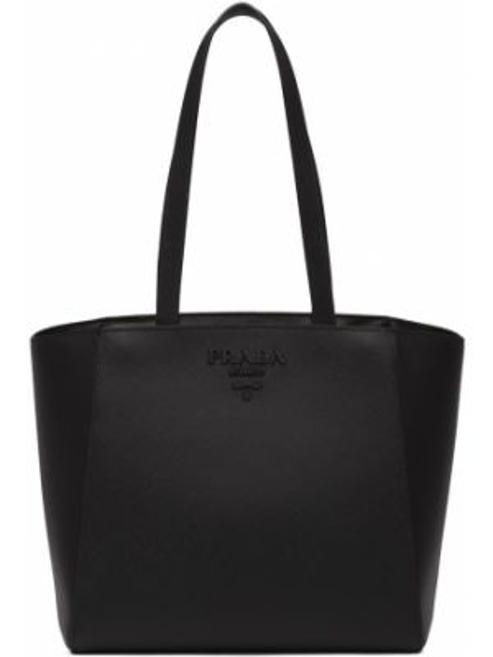 Skórzana torebka na ramię czarna Prada