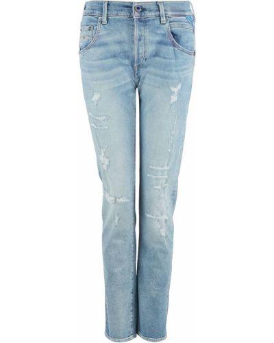 Синие джинсы бойфренды Replay