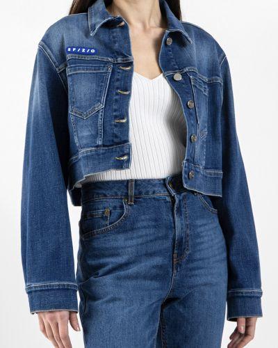 Хлопковая синяя джинсовая куртка Sfizio