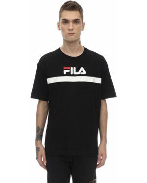 Czarny t-shirt bawełniany Fila Urban