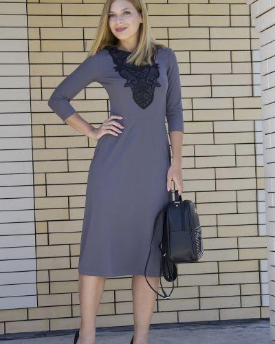 Деловое платье на молнии платье-сарафан Lautus