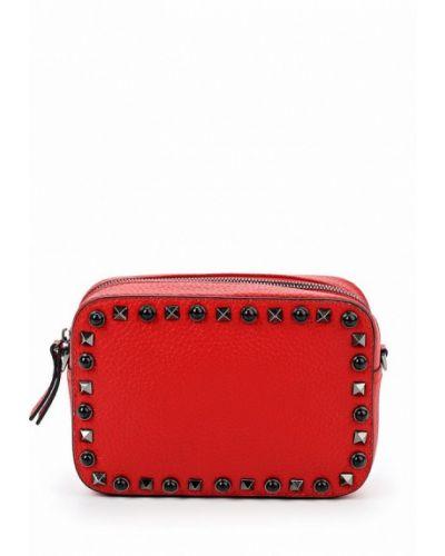 Красная кожаный сумка Labbra
