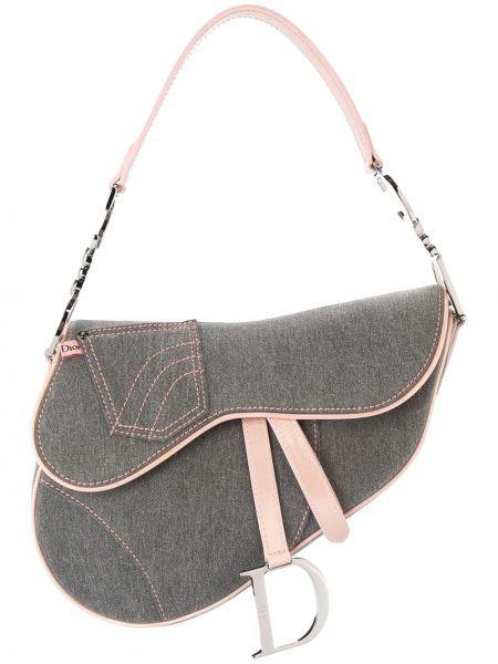 Кожаная сумка джинсовая на плечо Christian Dior