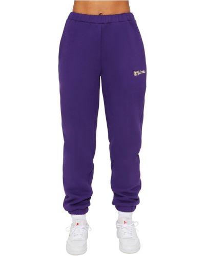 Fioletowe spodnie dresowe Danielle Guizio