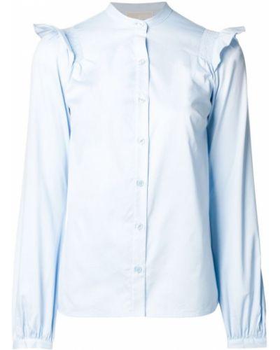 Рубашка с оборками с воротником-стойкой Michael Kors Collection