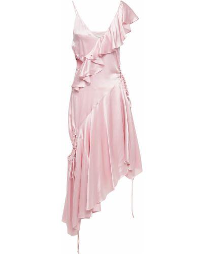 Sukienka asymetryczna - różowa Marques Almeida