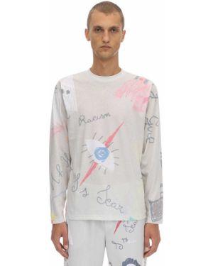 Biały t-shirt z długimi rękawami bawełniany Klsh - Kids Love Stain Hands