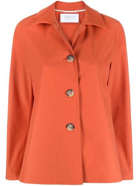 Оранжевая с рукавами классическая рубашка с воротником Harris Wharf London
