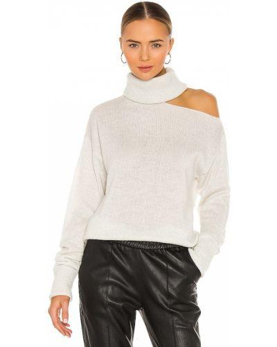 Бежевый шерстяной свитер с декольте Paige
