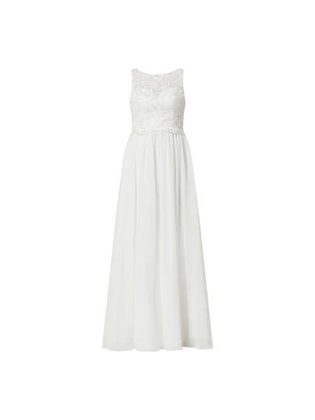 Sukienka rozkloszowana koronkowa z szyfonu Laona