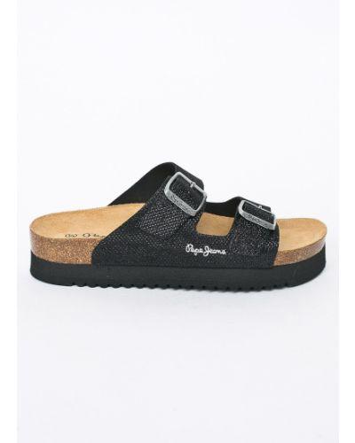 Сандалии черные Pepe Jeans