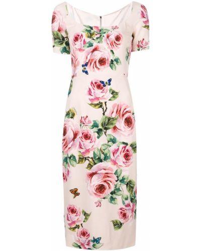 Платье миди мини приталенное с розами Dolce & Gabbana