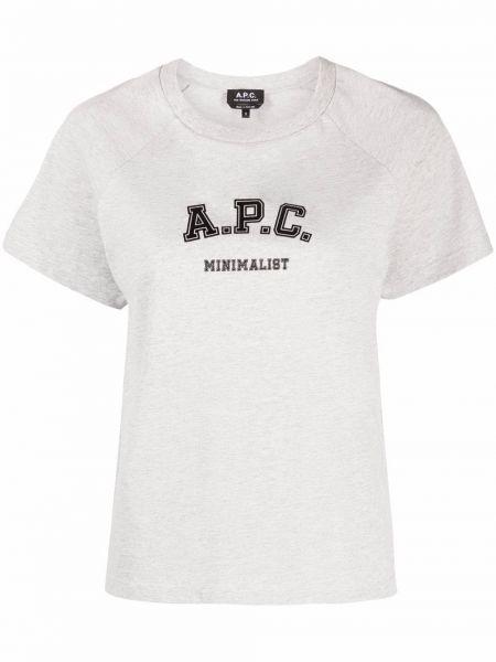 Хлопковая футболка - серая A.p.c.
