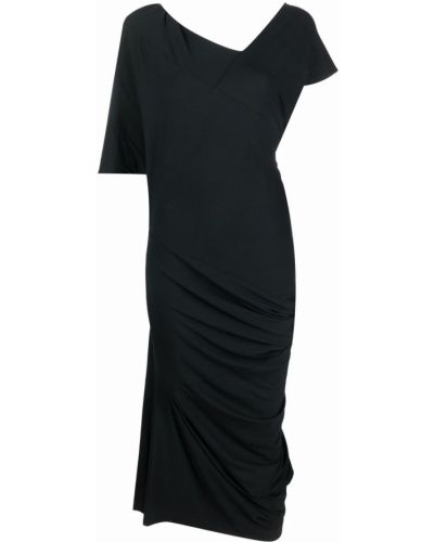 Приталенное платье миди - черное Vivienne Westwood