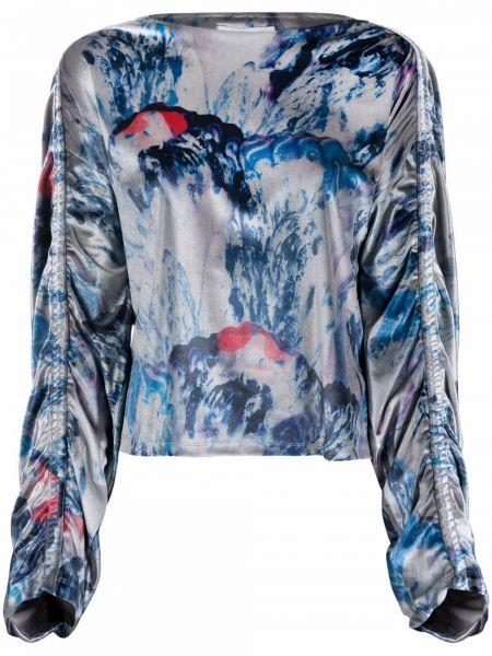 Серая блузка длинная Henrik Vibskov