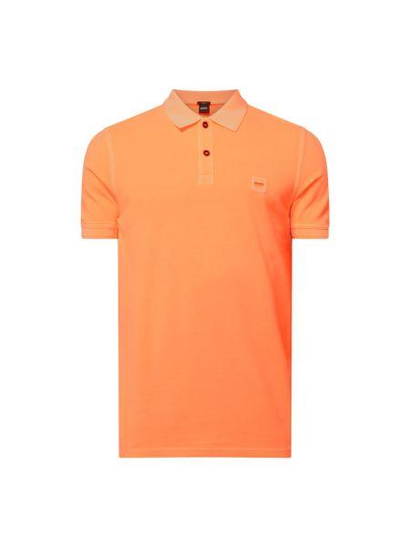 T-shirt bawełniana - pomarańczowa Boss Casualwear