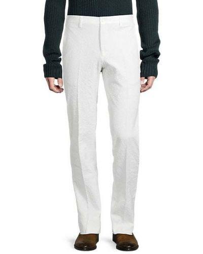 Хлопковые брюки с карманами на пуговицах Zanella