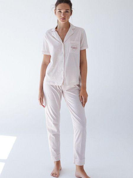 Piżama zapinane na guziki - beżowa Women'secret