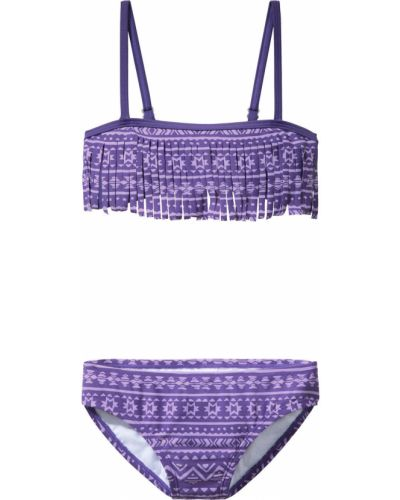 Купальник фиолетовый с узором Bonprix