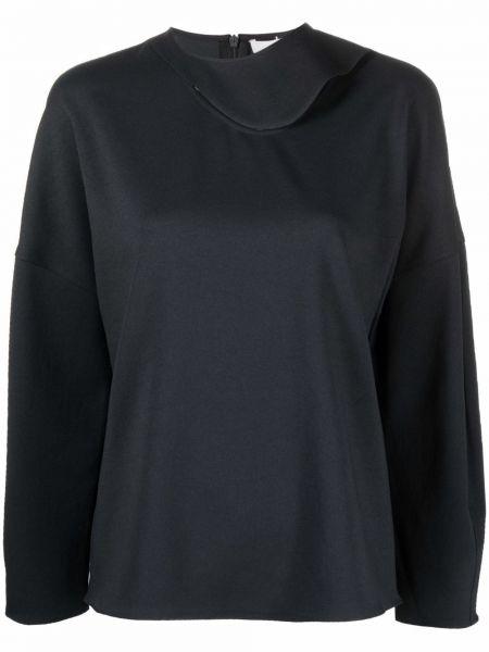 Czarna koszulka z długimi rękawami Tibi