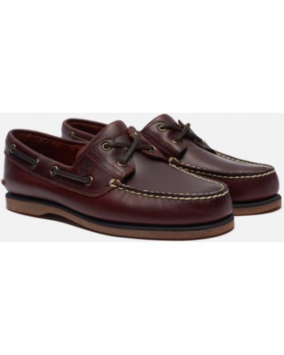 Кожаные ботинки - красные Timberland