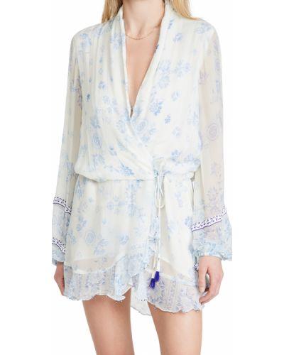 Шифоновое белое платье макси с длинными рукавами Rococo Sand