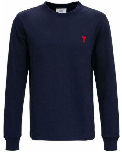 Niebieska t-shirt Ami Paris
