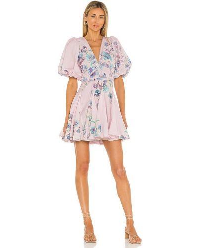 Кружевное платье мини - сиреневое Hemant And Nandita