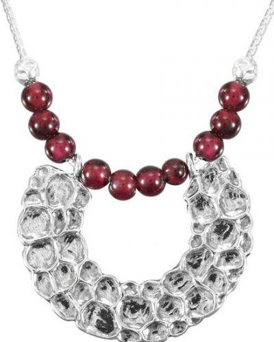 Красное ожерелье с подвесками с гранатом Den'o