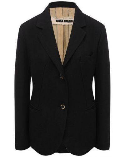Однобортный приталенный пиджак с подкладкой Uma Wang