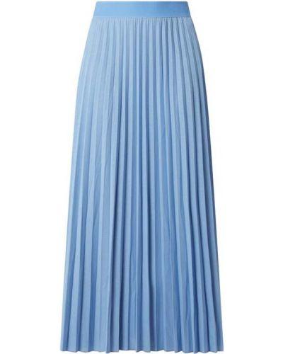Niebieska spódnica maxi rozkloszowana z wiskozy Marc O'polo