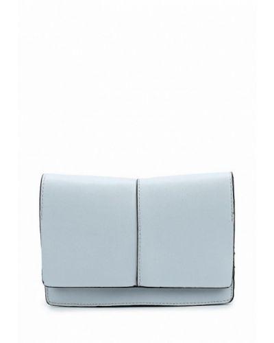 Голубая кожаная сумка Mango