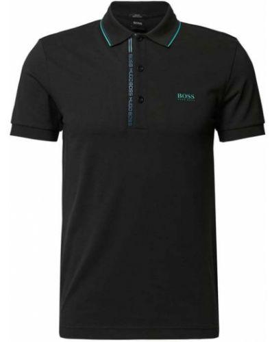 Czarna koszulka bawełniana Boss Athleisurewear