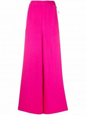 Spodnie z wysokim stanem - różowe Mm6 Maison Margiela
