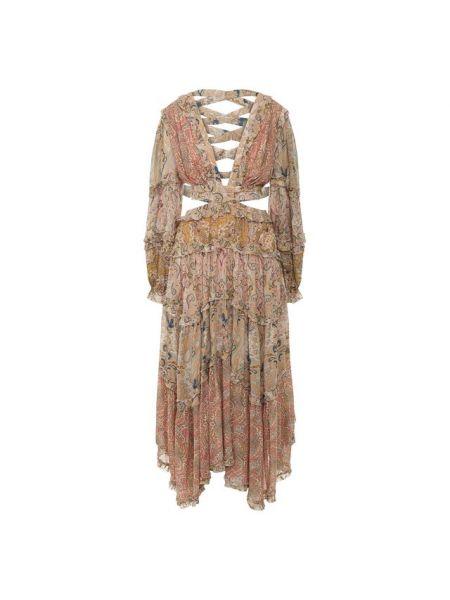 Платье в стиле бохо на шнуровке Zimmermann