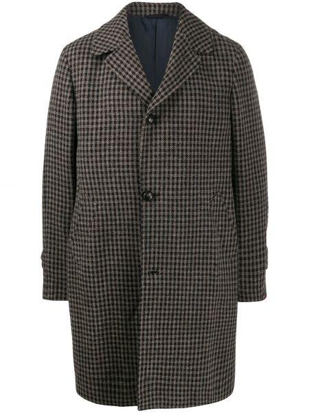 Czarny płaszcz wełniany Mp Massimo Piombo