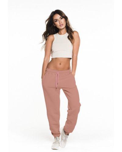 Розовые брюки с карманами с открытым носком Gym Hero