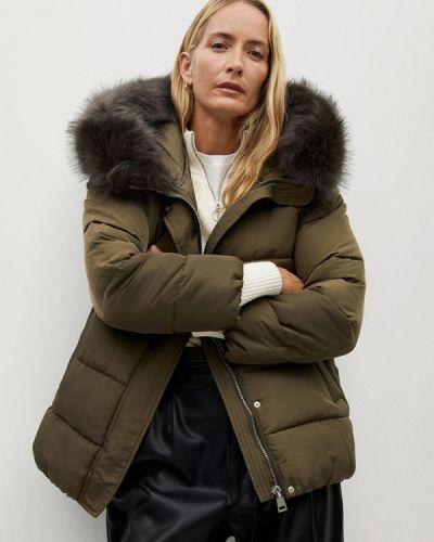 Утепленная куртка хаки Mango