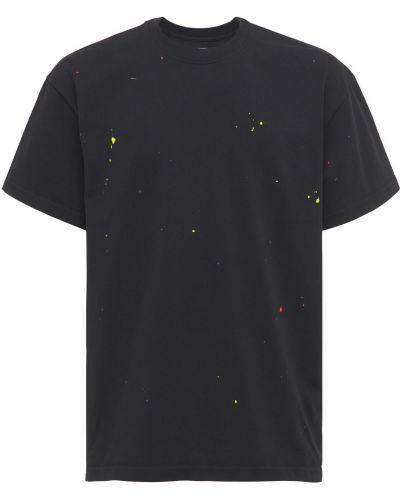 Czarny t-shirt bawełniany Lc23