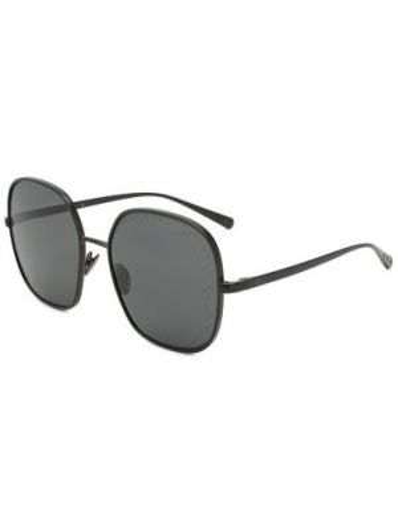 Черные солнцезащитные очки металлические матовые Chanel