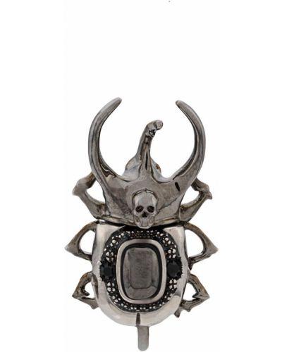 Серьги серебряный с логотипом Alexander Mcqueen