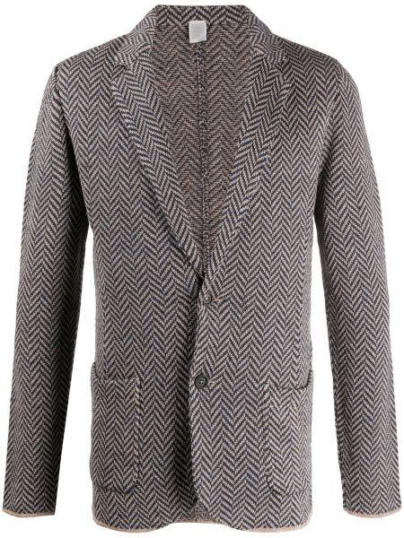 Пиджак на пуговицах с воротником букле с карманами Eleventy