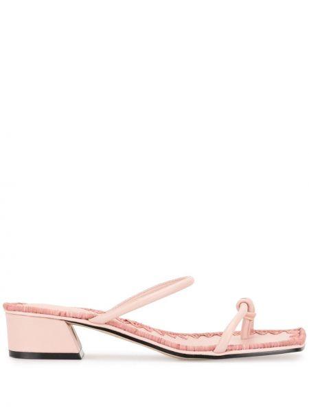 Массивные открытые розовые босоножки на каблуке Mara & Mine