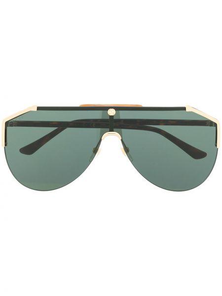 Okulary przeciwsłoneczne zielony szkło Gucci Eyewear