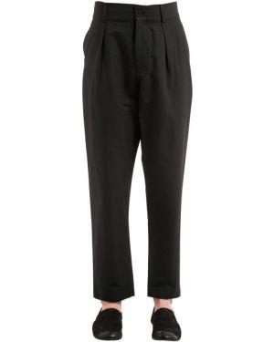 Czarne spodnie bawełniane Damir Doma