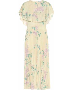 Теплое платье розовое с цветочным принтом Redvalentino