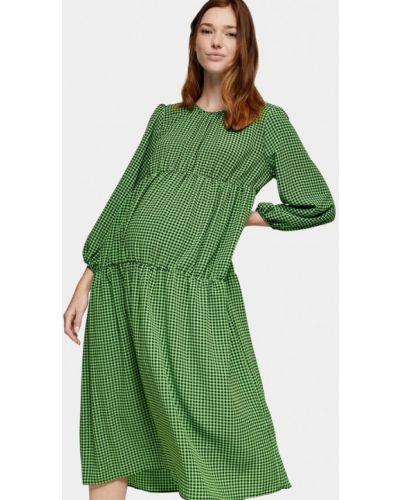 Прямое зеленое платье для беременных Topshop Maternity