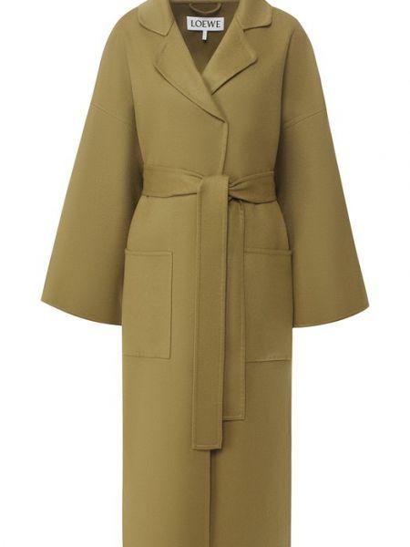 Пальто шерстяное пальто Loewe